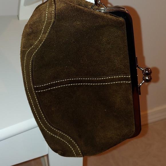 Coach Handbags - Coach suede clutch bag